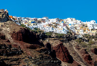 Looking Up at Oia